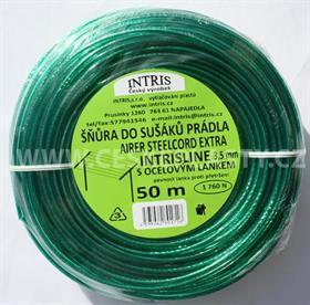 Vysokopevnostní šňůra do sušáku s ocelovým lankem INTRISLINE AIRER STEELCORD EXTRA 3,5 mm 50 m