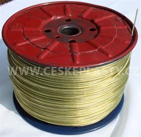Prádelní šňůra s ocelovým lankem INTRISLINE STEELCORD EXTRA 3,5 mm v návinu na cívce žlutá
