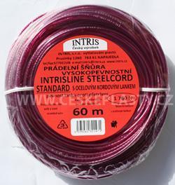 Značková vysokopevnostní šńůra na prádlo s ocelovým lankem INTRISLINE STEELCORD STANDARD 60 m