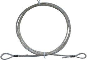 Ocelové potahované lanko se zalisovanými oky; délka 75 cm