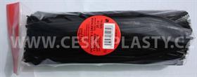 Vázací pásky s drátkem TECHNO černé dělené 20 cm/500 ks v sáčku