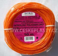 Vysokopevnostní šňůra na prádlo se silonovým lankem 3 mm INTRISLINE POLYAMICORD EXTRA 50 m