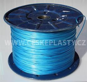 Vysokopevnostní prádelní šňůra se silonovým kordovým lankem a ocelovou strunou 3 mm EXTRA STEEL modrá