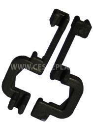 Fixační spona opěrné tyče k nosnému drátu pro tyč průměru 6 mm