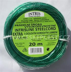 Vysokopevnostní šňůra na prádlo s ocelovým lankem STEELCOR EXTRA 3,5 mm 20 m
