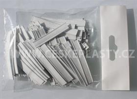 Klipovací pásek 8 mm s drátky bílý 5 cm 200 ks