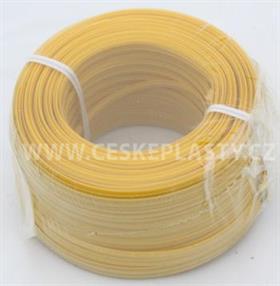 Vázací pásek s drátkem TECHNO COLOR žlutý