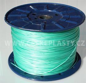 Vysokopevnostní prádelní šňůra se silonovým kordovým lankem a ocelovou strunou 3 mm EXTRA STEEL zelená