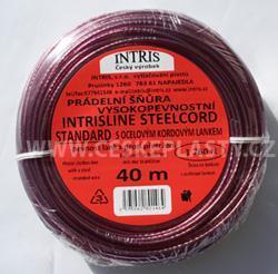 Značková vysokopevnostní šńůra na prádlo s ocelovým lankem INTRISLINE STEELCORD STANDARD 40 m