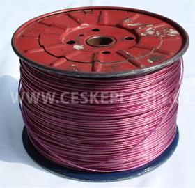Prádelní šňůra s ocelovým lankem INTRISLINE STEELCORD EXTRA 3,5 mm v návinu na cívce fialová