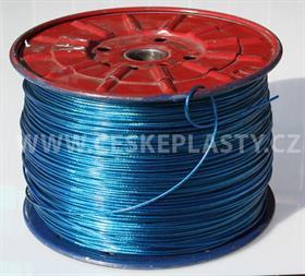 Prádelní šňůra s ocelovým lankem INTRISLINE STEELCORD EXTRA 3,5 mm v návinu na cívce modrá