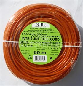 Vysokopevnostní šňůra na prádlo s ocelovým lankem STEELCOR EXTRA 3,5 mm 60 m