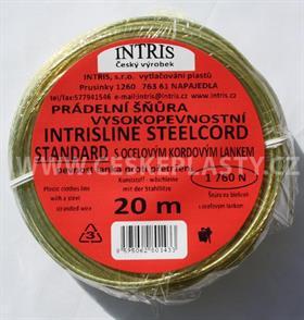 Značková vysokopevnostní šňůra na prádlo s ocelovým lankem INTRISLINE STEELCORD STANDARD 20 m