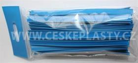 Klipovací páska 8 mm dělená 100 ks modrá