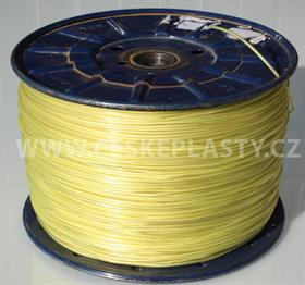 Vysokopevnostní šňůra na prádlo se silonovým lankem 3 mm INTRISLINE POLYAMICORD EXTRA žlutá