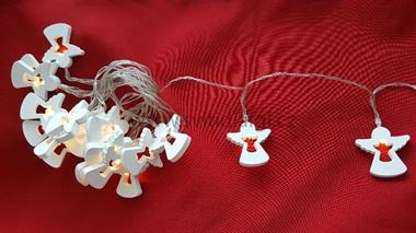 20 LED řetěz andílci bílí