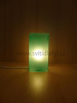 Stolní lampa CUBE zelená