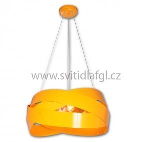 Lustr TORNADO žlutý