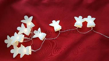 10 LED řetěz andílci bílí-s časovačem