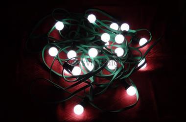 20 LED řetěz venkovní E27 1W bílé