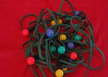 20 LED řetěz venkovní E27 1W barevné
