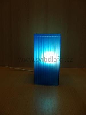Stolní lampa CUBE modrá