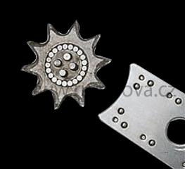 Vodící ozubená kolečka pro laminované lišty