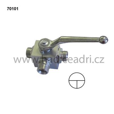 3-Cest. ocelový ventil DIN 2353