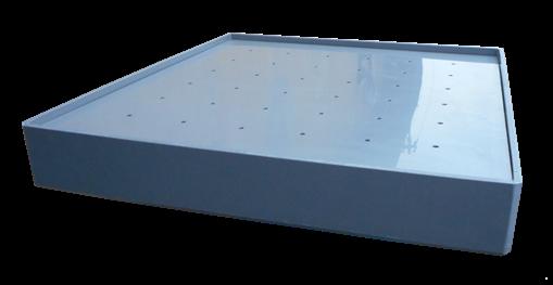 Záchytná vana s úkapovým roštem | Olbest